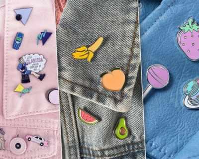 Значки вместо брошки: как да ги носиш