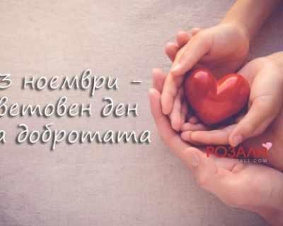 13 ноември - световен ден на добротата