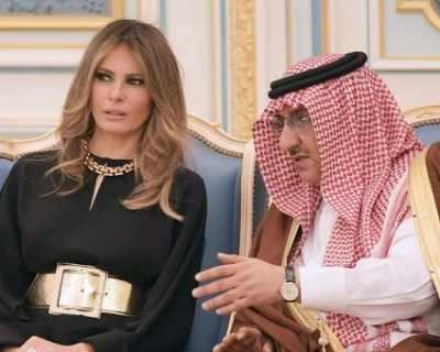 Меланиа Тръмп без шал на главата в Саудитска Арабия