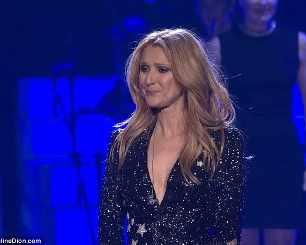 Селин Дион отново на сцената, плаче за мъжа си