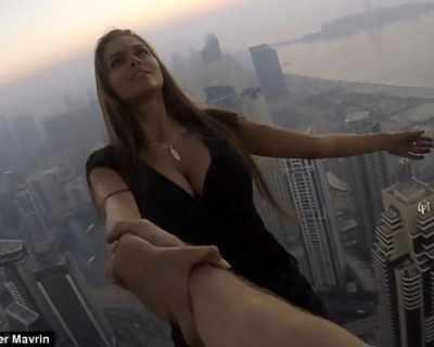 Руски модел рискува живота си заради перфектната снимка
