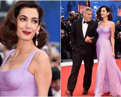 Амал Клуни покори Венеция във Versace