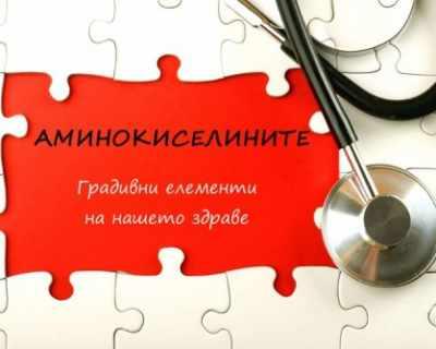 Аминокиселини - градивните елементи на здравето