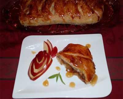 Бутер руло с карамелизирани ябълки