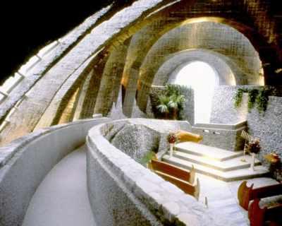 Уникална каменна църква в Япония с модерна визия