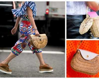Сламената чанта е новата мания на street style визиите