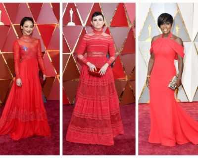 Червеният килим на Оскарите посрещна много червени ...