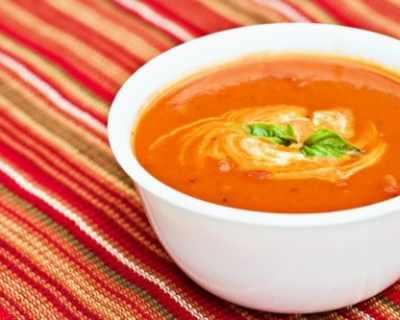 Кадифена доматена крем супа