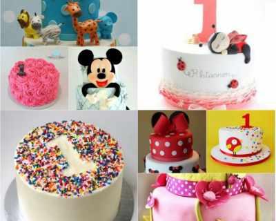 80 идеи за торти за първи рожден ден
