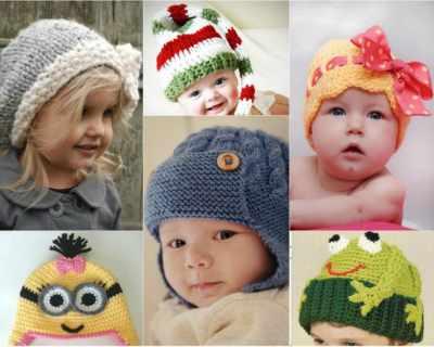 Плетени детски шапки - 50 модела