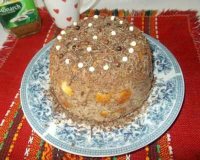 Лесна тортичка от козуначени кифлички