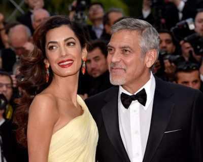 Амал дари Джордж Клуни с близнаци