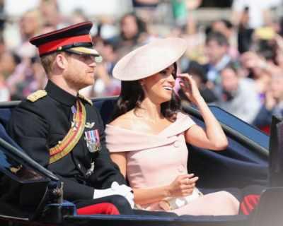 Принц Хари и Меган Маркъл на сватбата на ...