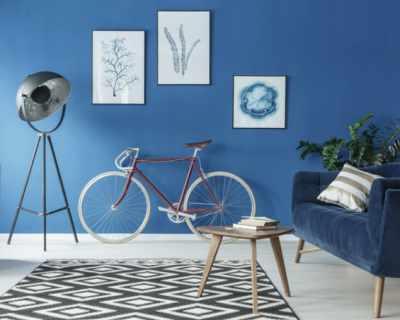 Теория на цветовете в интериора: синьо