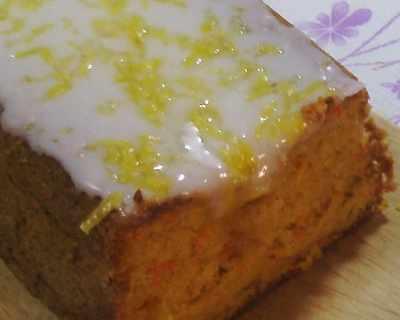 Кекс с моркови и лимонена глазура