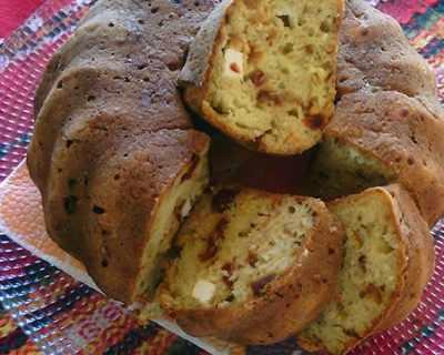 Кекс със сушени домати и овесени ядки