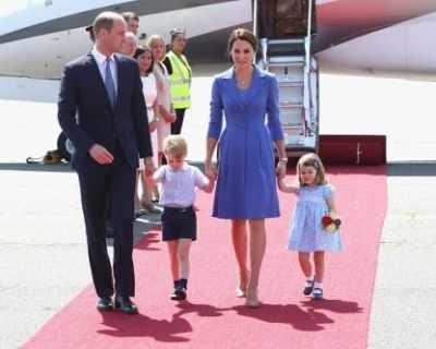 Младото кралско семейство пристигна в Германия ...