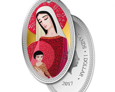 """Монета-медальон """"Мадона с младенеца"""" от Ейвинд ..."""
