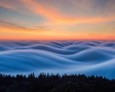 Мъглата над Сан Франциско е като произведение на ...