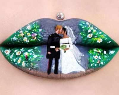 Да нарисуваш кралската сватба върху устните си