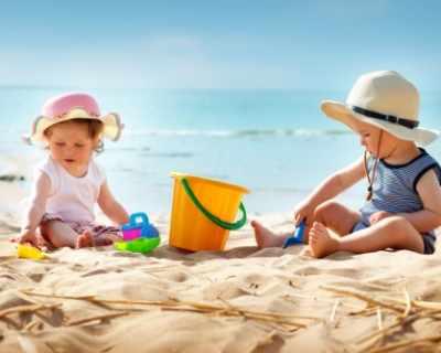 Игри и забавления с децата на плажа