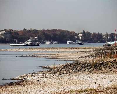"""Поради сушата река Рейн е """"дълбока"""" едва 77 см."""