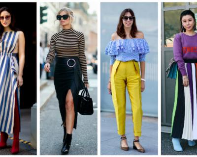 Street style за пролет 2018: Вечното райе