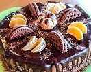 Шоколадова бисквитена торта - без печене