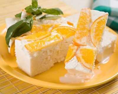 Сладка оризова пита с портокали
