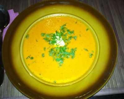Крем-супа от тиква с кокосово мляко