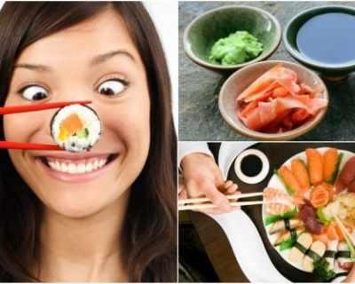 Правила при ядене на суши