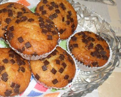 Ванилови мъфини с масло и шоколад