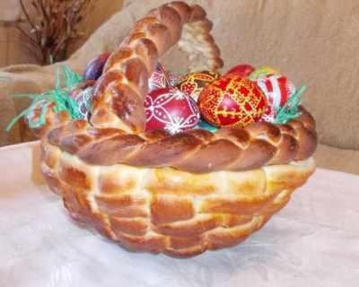 Великденска кошничка от тесто