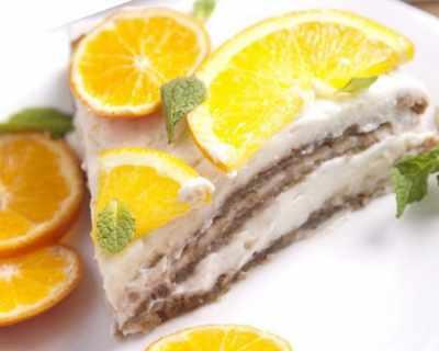 Въздушна торта с орехи и кисело мляко