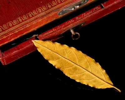 Листо от короната с лавров венец на Наполеон отива ...